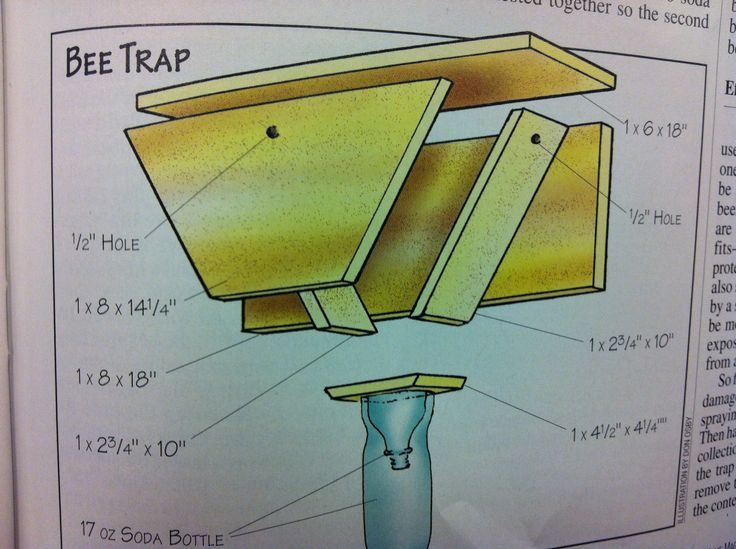 Save your home, get rid of wood bees. This is a wood bee trap that will help stop wood bees from drilling into your home.