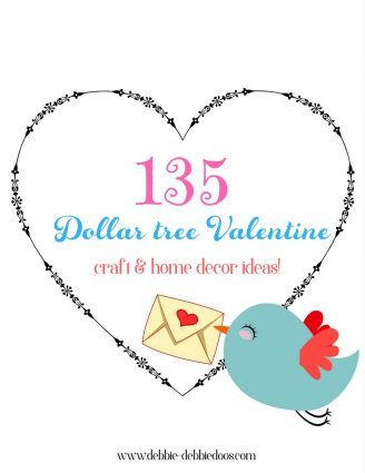 Anything for a Dollar Valentine's party - Debbiedoos