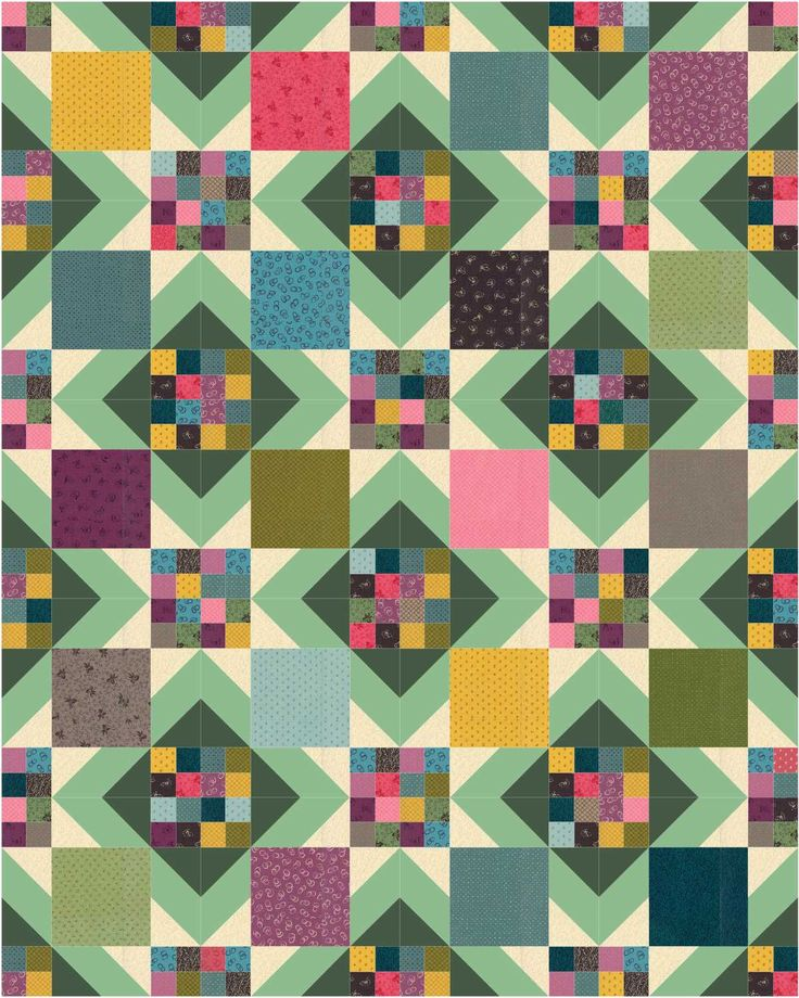Modern or primitive twist depending on fabrics used a easy quilt pattern