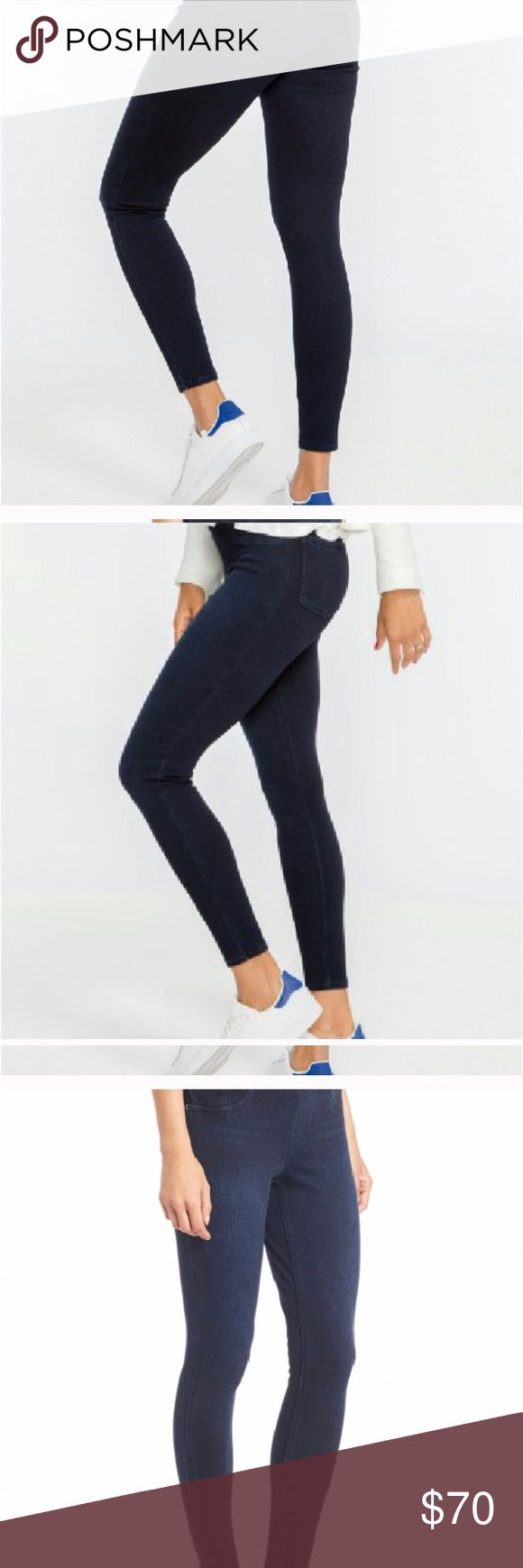 "Spanx jeggings Color is dark blue called ""twilight rinse"" back pockets. Very stretchy and slimming as the spanx brand always promises! Tags removed but never worn due to pregnancy SPANX Pants"