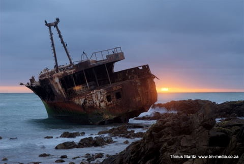 Shipwreck at Cape Agulhas South Africa