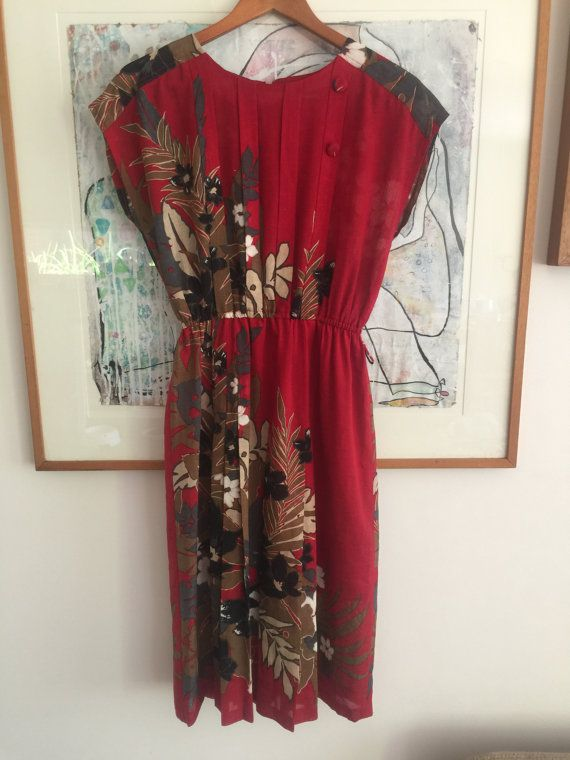 Japanese Vintage Dress with pleating