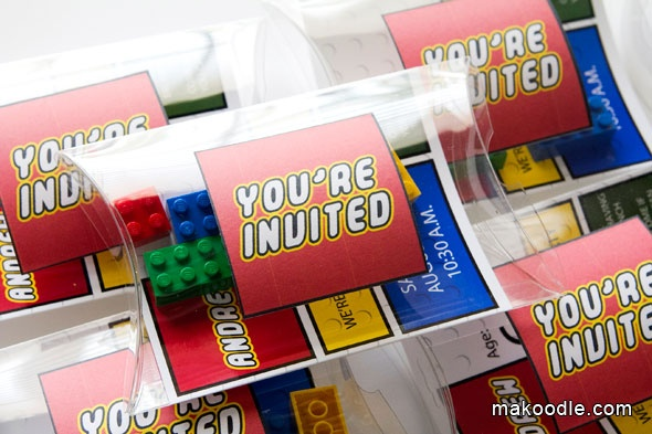 Lego Birthday Invitation Printable Download