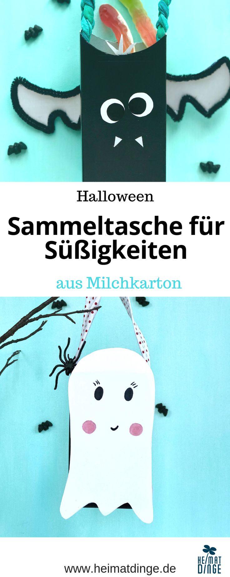 Halloween Sammelbeutel mit Kindern basteln