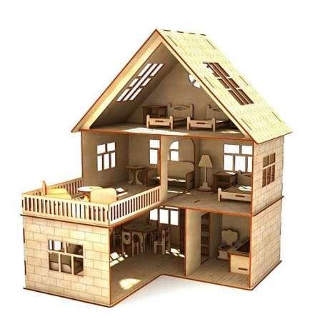 Кукольный дом + мебель .Кукольный домик для ребёнка/для кукол/подарок Харьков - изображение 1