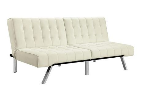 DHP Emily Futon in White- Dorel Home Products- Walmart.ca
