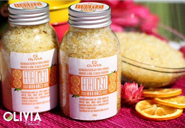 Narancs fürdősó / Orange bath salt