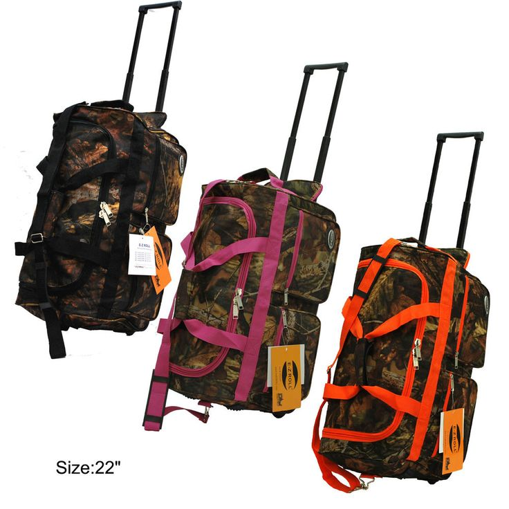 "Real Tree Camo Hunting Rolling Duffle Bag in 22""/30""/36"" with 3 Colors #EZRoll"