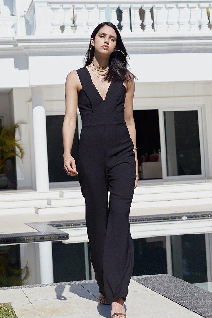 1af4f5235 Macacao Decote v | roupas | Jumpsuit, Dresses e Fashion