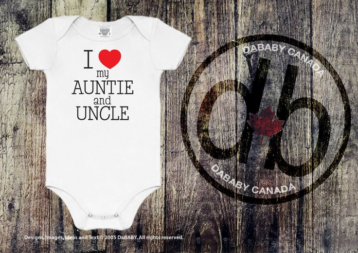 #etsy shop: I Love My Auntie and Uncle Bodysuit - I Love My Aunt and Uncle Toddler Shirt - Baby Girls' and Baby Boys' Clothes http://etsy.me/2FUAwhs #clothing #children #baby #babyshowergift #auntieanduncle #takehomeoutfit #auntiebodysuit #unclebodysuit #newbornbaby