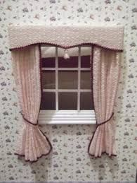 Image result for how to make swags and tails dolls house curtains