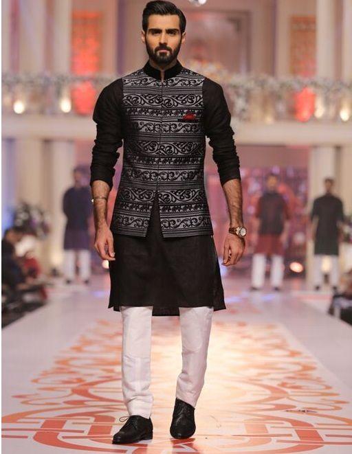 Kurta Pyjama with Nehru Jacket Combination