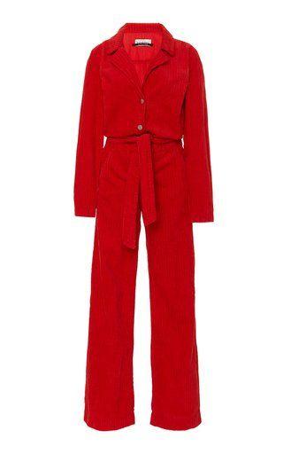 d9825c6826c Red Corduroy Jumpsuit by Blanche