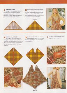 Labores de Jessica...: Ideas para hacer chaleco con telar triangular...