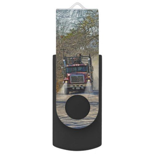 Heavy Truck on a Dusty Country Road Gift 9 Flash Drive