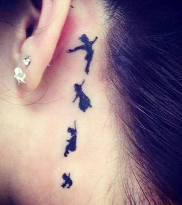 Peter Pan base tattoo.. never grow up, keep dreaming & keep that inner childhood spirit alive :)