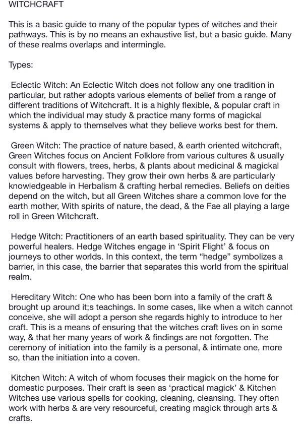 Types Of Witches Different Types Of Witches Pinterest