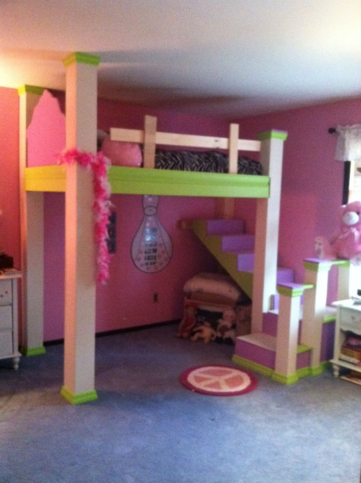 Loving this loft bed! Maybe different colors?? Definitely different headboard!