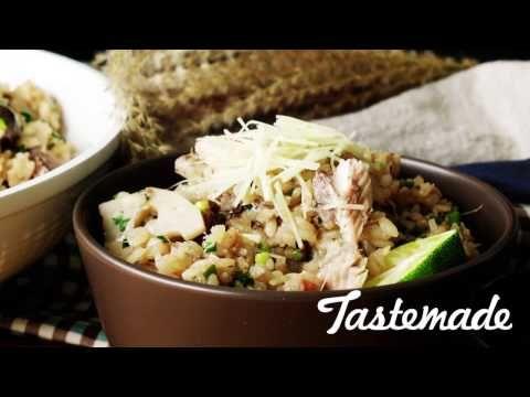 【フライパン1つで】秋さんまの炊き込みご飯 - YouTube