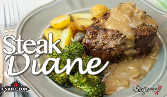 Steak Diane on the grill, a perfect, easy recipe for breaking that midweek monotony.