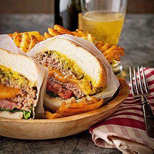 ✔Juicy Lucy Burger! OR (for Steak 'n Shake Frisco Burger copycat) go to http://www.jamhands.net/2011/01/steak-n-sheak-frisco-melts-copycat.html