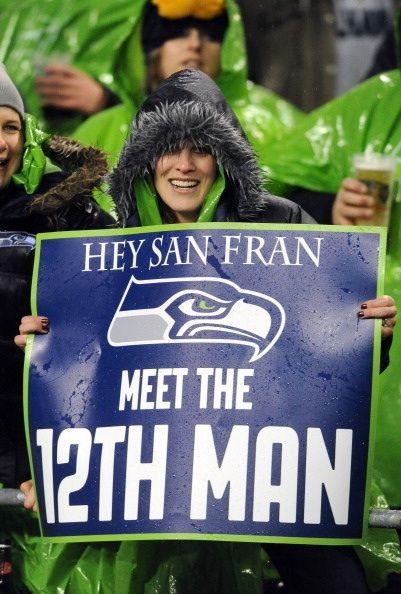 Hey San Fran meet the 12 th man.  Seahawks