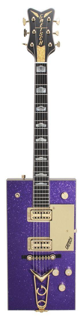 Obsédé de Guitare: Fantasme 174 - Gretsch Masterbuilt Bo Diddley Penguin Grape Sparkle