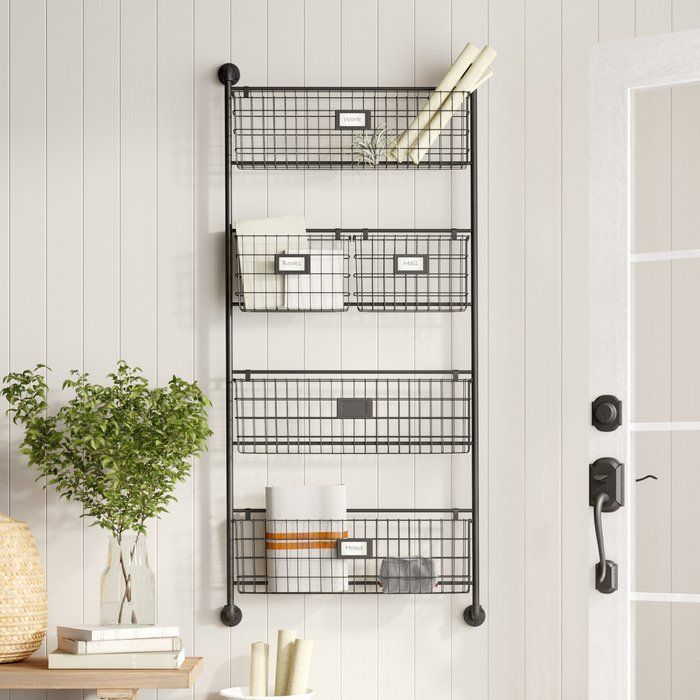 Julianne Wall Organizer With Wall Baskets