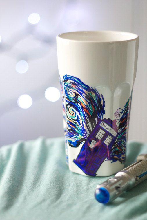 Van Gogh Doctor Who Ceramic Cup by DevinsEmporium on Etsy
