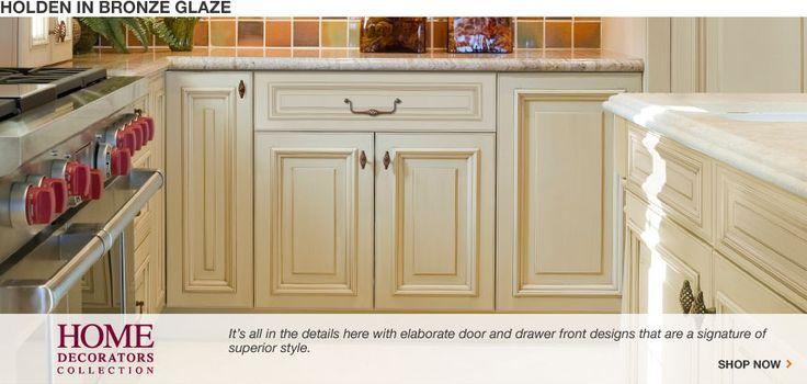 home depot holden bronze glaze cabinets  Home Ideas  Pinterest
