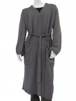 Long unpatterned coat with waistband 100% Merinos Wool by Rick Owens - Clothing Men Overcoats on sale.