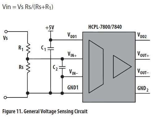 Sensing voltage as feedback but with galvanic isolation