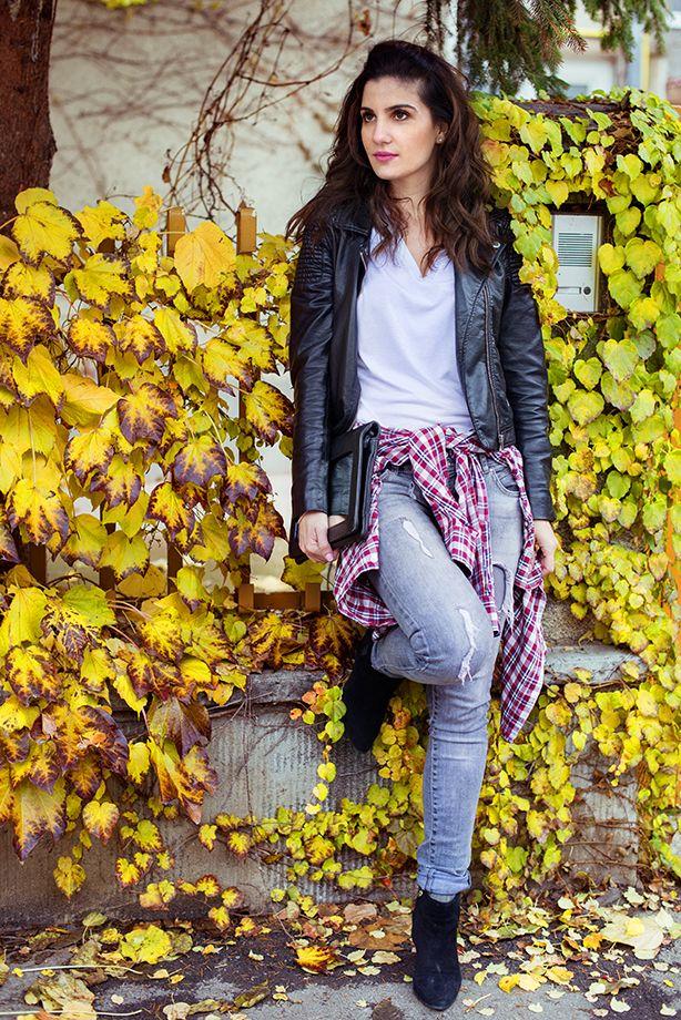 H&M jacket, Zara shirt, Seven Sisters jeans, Dune boots, MOON by Dana Rogoz clutch  www.cloudnumber9.ro