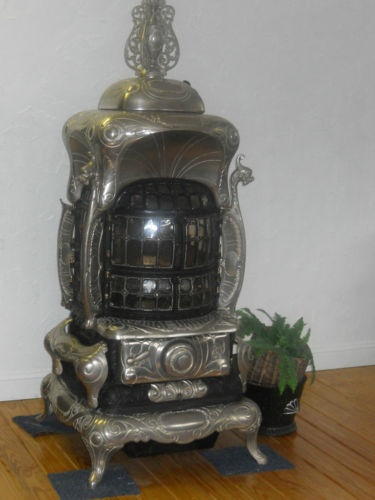 Antique Parlor Stove Imperial Universal No 70 Converted