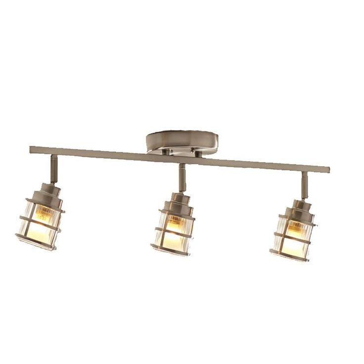 Shop allen + roth Kenross 3-Light Brushed Nickel Dimmable Fixed Track Light Kit at  sc 1 st  Pinterest & Best 25+ Rustic track lighting kits ideas on Pinterest   Sliding ... azcodes.com