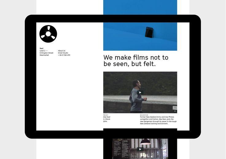 New Brand Identity For Reel By Richards Partners Bp O Web Design User Interface Web Design Tips Minimal Website Design