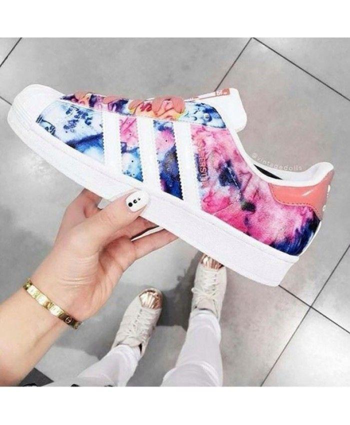 Adidas Superstar Womens Pink Floral