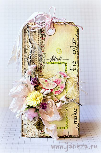 janeza's art blog: Make the color - Розовый)). Not a big yellow fan, but I do like this shade and the pink is beautiful with it.