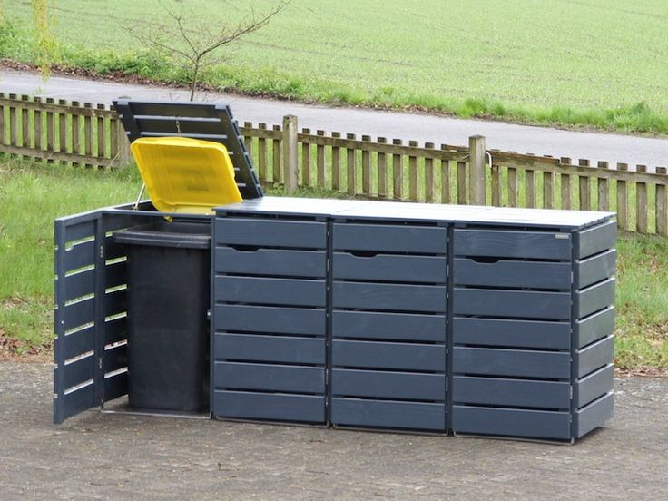20 besten m lltonnenbox bilder auf pinterest. Black Bedroom Furniture Sets. Home Design Ideas