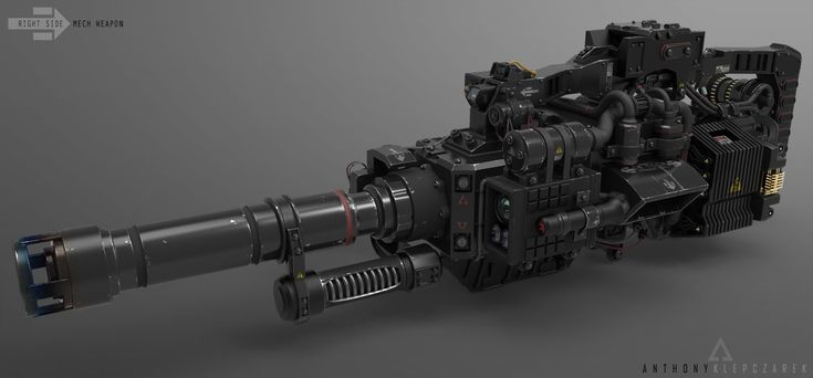 ArtStation - Automatic grenade launcher, Anthony Klepczarek
