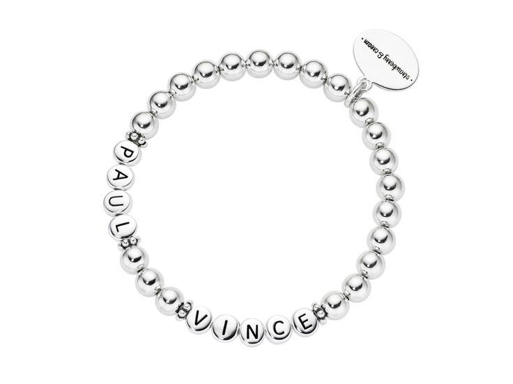 ladies silver letter bracelet 2