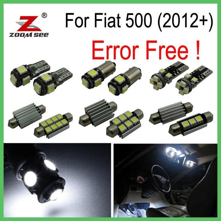 6pcs Led License Plate Bulb Interior Light Kit For Fiat 500 Turbo Pop Sport Lounge For Abarth For Gucci 2012 Jetta Mk5 Bombilla De Luz Bombillas