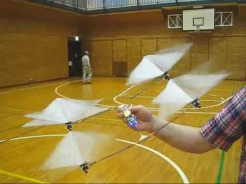 3ders.org - Japanese maker develops 3D printed tail-less ornithopter | 3D Printer News & 3D Printing News