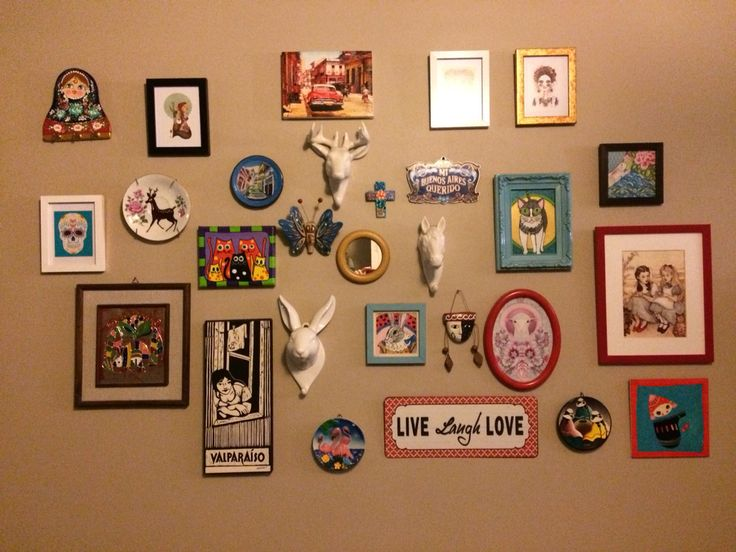 Collage wall living room
