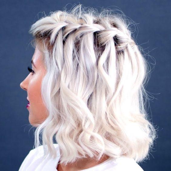 How To Waterfall Braid Short Hair