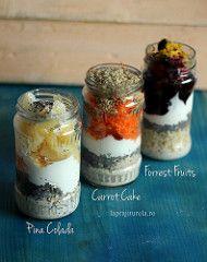 Overnight oatmeal – 3 variante de mic dejun, gata in 5 minute