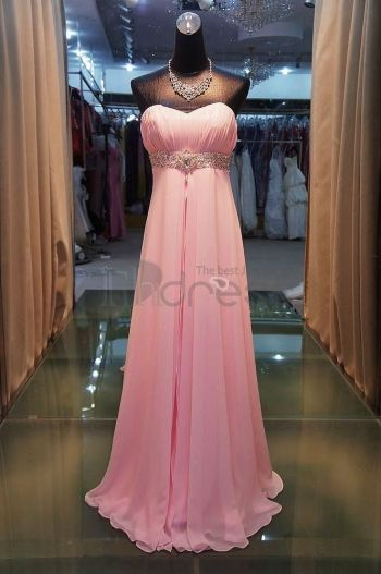 Abiti da Sera Eleganti-rosa abiti da sera eleganti senza spalline vita