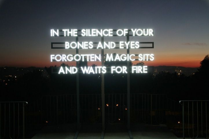 "work by Robert Montgomery - from ""RECYCLED SUNLIGHT PIECES"""