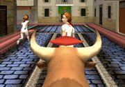 3D Macera Oyunları kategorisinde yer verdiğimiz 3D Boğa Sürme oyununda şehrin dar sokakların kızgın bir boğayı kontrol edeceksiniz. Kızgın boğayı kontrol ederek dar sokaklardaki insanları ortadan yok etmeye çalışacaksınız. Ne kadar fazla insan yok ederseniz o kadar puan kazanmış olacaksınız. http://www.3doyuncu.com/3d-boga-surme/