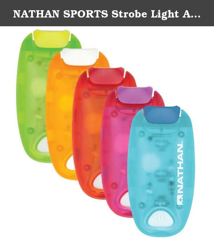NATHAN SPORTS Strobe Light Assorted Colors One Size. Who says being safe can't also be stylish? The Nathan Sports Strobe Light gives you the perfect amount of light to be seen at any hour and.